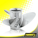 Turbo Offshore II Boat Propeller - (Evinrude Johnson) 4.75 Gear Case,15 Diameter,3 Blade