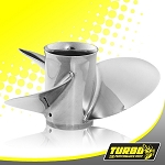 Turbo Pontoon 1 Boat Propeller - (Yamaha) 3.5 Gear Case,12 Diameter,3 Blade