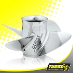 Turbo Quest 4 Boat Propeller - (Force) 4.25 Gear Case,13 1/8 Diameter,4 Blade