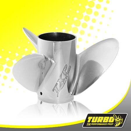 Turbo TXP Boat Propeller (Vented) - (Force) 4.75 Gear Case,14 3/4 Diameter,3 Blade