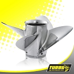 Turbo Ultima 4 Boat Propeller - (Force) 4.75 Gear Case,14 1/4 Diameter,4 Blade
