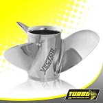 Turbo Vector Boat Propeller - (Yamaha) 4.75 Gear Case,14 1/2 Diameter,3 Blade
