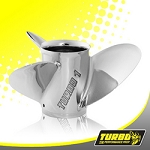 Turbo 1 Boat Propeller - (Yamaha) 4.75 Gear Case,14 1/4 Diameter, 3 Blade