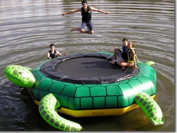 Turtle Jump Water Trampoline Island Hopper Tjump