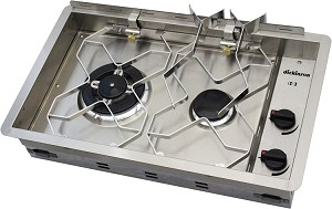Dickinson Marine 00-2BP Two Burner Propane Drop In Cooker
