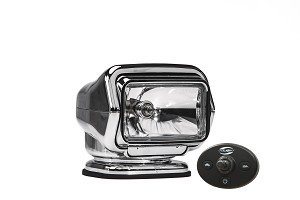 GOLIGHT® Stryker™ Model 3026 Chrome Halogen Hard Wired Dash Mount Remote Searchlight