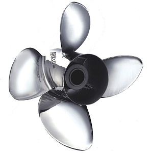Apollo 4-Blade 993204 Stainless Steel Boat Propeller 14.375 X 18 R4
