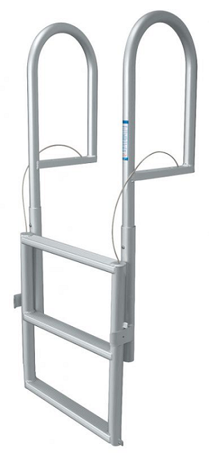 "JIF Marine DJX3 Dock Lift 3 Step Ladder Anodized Aluminum with 2"" width step"