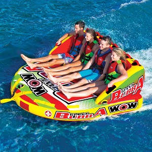 WOW Giant Bubba HI VIS 4 Person Inflatable Towable 17-1070