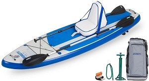 Sea Eagle HB96 the Hybrid Stand Up Paddleboard for stand up, sit down and surfing DELUXE VERSION SHOWN ABOVE