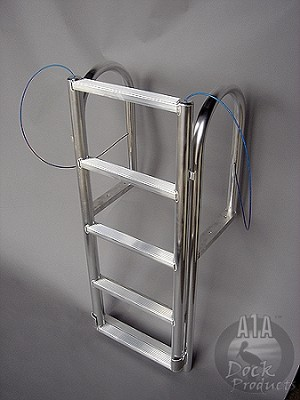 A1A Aluminum Dock 5 step Lift Ladder Model Shown
