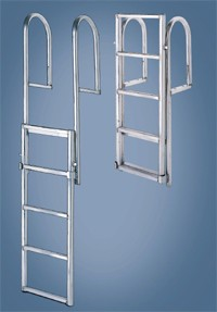 International Dock Floating Lift Ladder 5 Step Model Shown