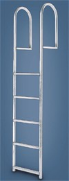 International Dock Standard Straight Ladder 5 Step Model Shown
