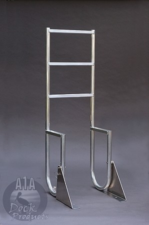 "A1A Dock 7 Step Swing Ladder 3 1/2"" Wide"