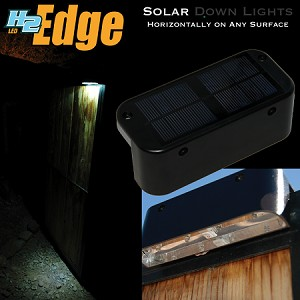 H2-TE4-BK Touchstone The Edge Solar Powered Downlights in Black