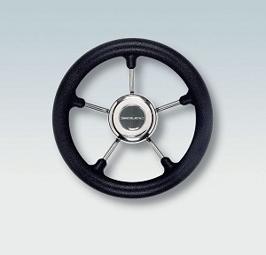 Ultraflex V28B 5 Spoke Non Magnetic Stainless Steel Steering Wheel